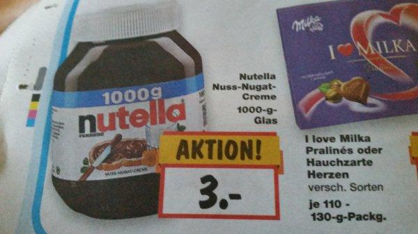 Nutella 1kg für 3 € im Kaufland