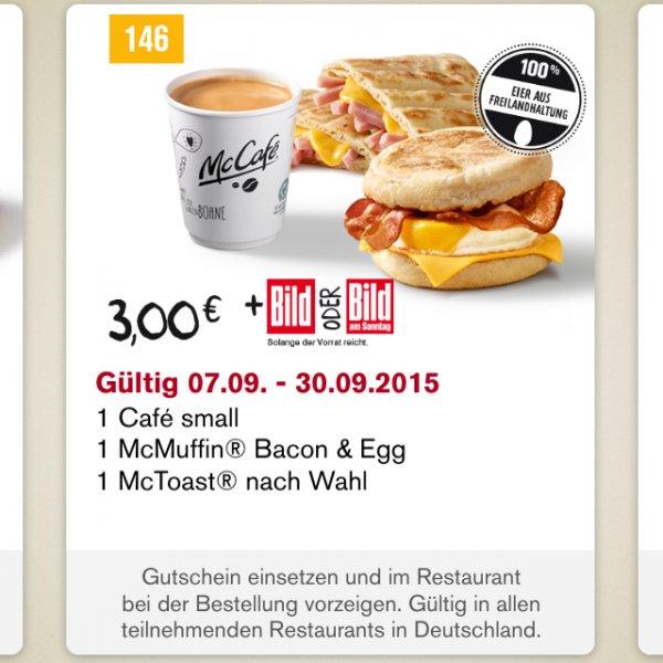 McDonalds Frühstück Gutschein 146 nur 2,20 Euro statt 3 Euro
