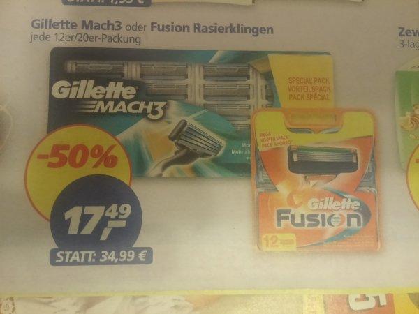 Gillette Mach 3, 20 Klingen vermutl. bundesweit bei REAL