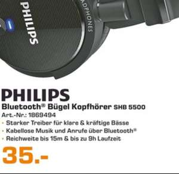 [LOKAL] @Saturn Berlin -Philips Bluetooth Kopfhörer SHB5500
