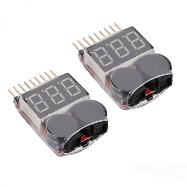 [CN] 2 x 2 in 1 LIPO Batterietester 1S-8S