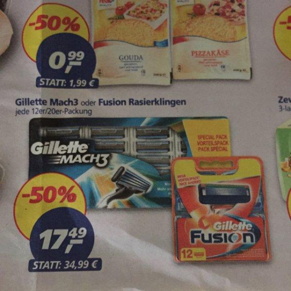 Gillette Fusion / mach 3 klingen