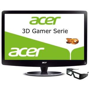 WHD Acer  23,6 Zoll LED 3D-Monitor inkl. 3D-Brille (VGA, 2xHDMI 1.4a, 2ms, 120Hz)