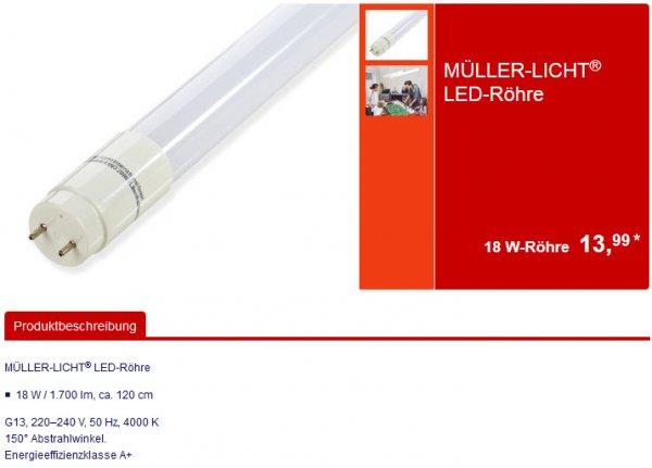 Aldi Süd: MÜLLER-LICHT LED-Röhre 120cm 18W