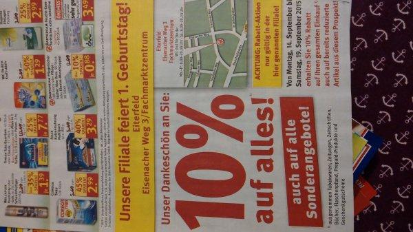 [lokal Eiterfeld] 10% Rabatt auf alles bei Rossmann von 14.09 bis 19.09.