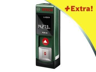 Herkules Baumarkt - BOSCH Laser-Entfernungsmesser PLR 15 (optinal:Akku-Lader+Akkus im Wert von EUR 29,99 Gratisaktion)