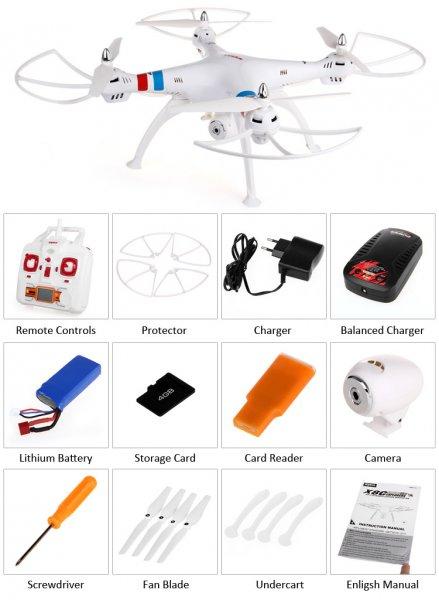 Quadrocopter Syma X8C Venture weiss 2,4 Ghz, HD Kamera, 6 Axis, 4 Kanal