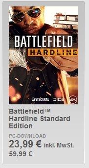 Battlefield  Hardline Standard Edition (und Battlefield 4) für 23,99 Euro (BF4 9,99 Euro) im Origin Store