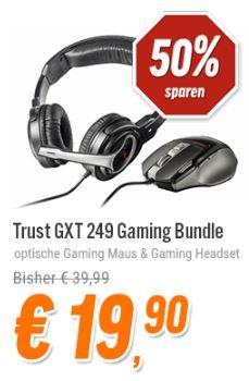 Trust GXT 249 Gaming Bundle bei NBB: Bestehend aus Gaming Maus GXT 25 und Gaming Headset GXT 10