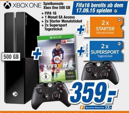 [Expert Flensburg] Xbox One + Fifa 16 + 2. Controller + 1 Monat EA Access + 2x Sky Starter Monatsticket + 2x Sky Supersport Tagesticket