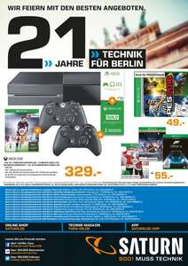 [Lokal Saturn Berlin/Potsdam] XBox One + Fifa 16 + 2.Controller + 3 Monate Gold etc. für 329€