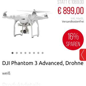 Dji Phantom 3 Advanced 899,-