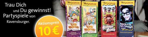 Ravensburger Partyspiele für je 10€ frei Haus