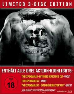 The Expendables Trilogy - Steelbook/Uncut [Blu-ray] [Limited Edition] inkl. 18 FSK Vsk für 33,99 € > [amazon.de]