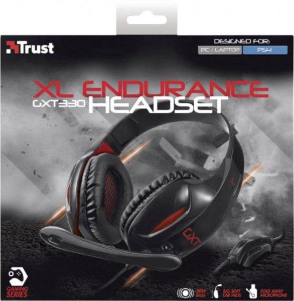 TRUST Headset GXT 330 XL Endurance für PC und PlayStation®4 Digitalo 14,99 €