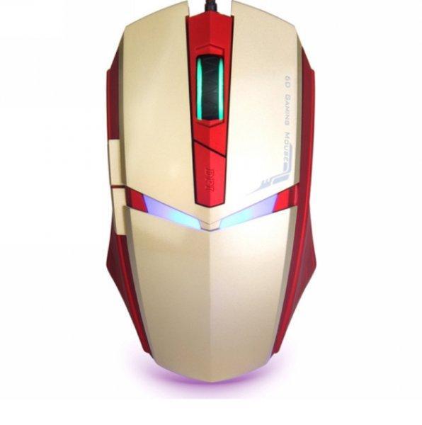 IRON MAN Led Gaming Maus; 1600 dpi; 6 Tasten; für 16,59€ [inkl.Versand] [Amazon] - 3 Farben wählbar