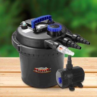 Mauk Teichdruckfilter-Set inkl. 11 Watt UVC-Klärer,  3Jahre Garantie   für 93,94€  (35% billiger ) bei norma24.de