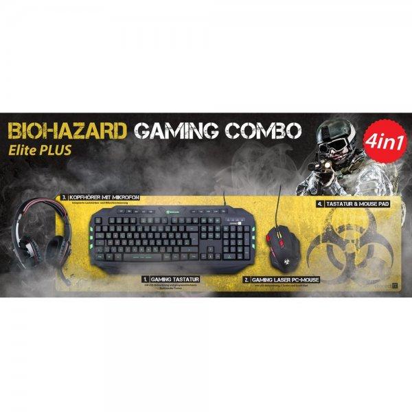 "connectIT™ - Gaming Set ""BIOHAZARD Combo Elite"" (Tastatur/Headset/Maus/Pad) ab €79,10 [@Redcoon.de]"
