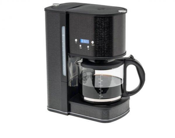 MEDION® (MD 15619), Aluminium Kaffeemaschine mit LCD-Timer, 1080 Watt, 1,5 Liter Wassertank, Warmhaltefunktion, Überhitzungsschutz @allyouneed.com