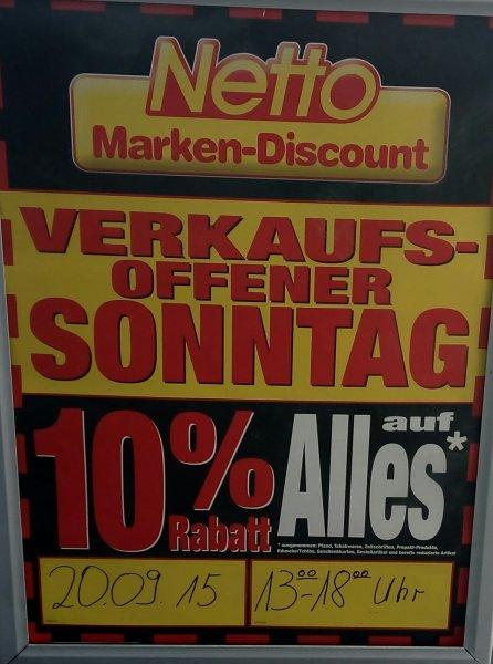 Netto Drolshagen (ohne Hund) 10 % auf Alles am 20.09.