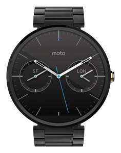 Mo­to­ro­la Moto 360 Smart­watch Metal Edi­ti­on für 174,70€ @Amazon.fr