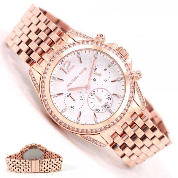 Blitzangebot: Michael Kors Damen-Armbanduhr Chronograph Quarz Edelstahl beschichtet MK5836 @159,99
