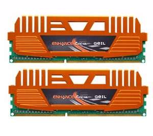 GEIL Enhance Corsa Series Dual Channel Arbeitspeicher 8GB (1333MHz, 240-polig, 2x 4GB, CL9) DIMM DDR3-RAM Kit für 37,88 € @Amazon.co.uk