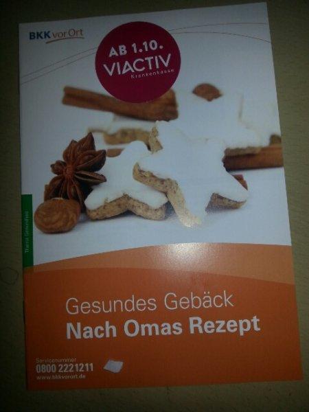 "Kostenloses Rezeptheftchen ""Gesundes Gebäck nach Omas Rezept"""