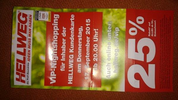 [lokal] Hellen Menden 17.9. Ab 20 Uhr 25% ab einem Einkauf von 50 Euro
