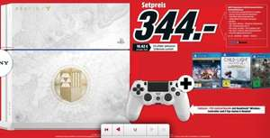 [Lokal Mediamarkt Neumarkt-Oberpfalz] Playstation 4, 500 GB, Weiße Destiny Limited Edition + Child of Light: Deluxe Edition+ Destiny-König der Besessenen + Arcania - The Complete Tale für 344,-€ ab 17.09