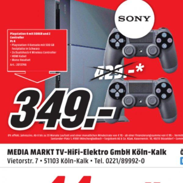 (Lokal Köln-Kalk) PS4 500 GB inkl. 2 Controller