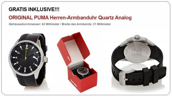 Puma Armbanduhr + Gratis Prepaidkarte mit 5 € Startguthaben für 12,98