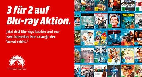 """(Mediamarkt) Neue 3für2 BluRay Aktion.Auf ausgewählte BDs**Update"""""""" Anscheinend erst ab 20.00 Uhr gültig"""