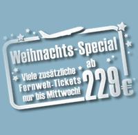Ab 229 €* z.B. nach New York - Airberlin Weihnachts-Special - Zusätzliche Fernweh Tickets