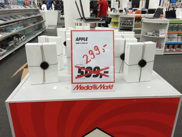 [Lokal] iPad mini 3 (16 GB, Wifi) für 299 @Media Markt München-Haidhausen