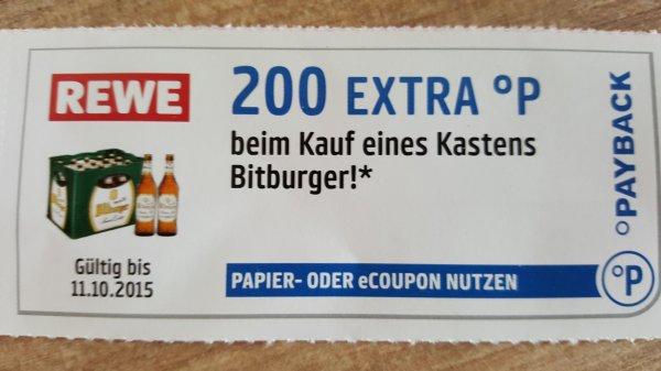[REWE&Payback] Kasten Bitburger Stubbi für 8,79€ + 200 Payback-Punkte
