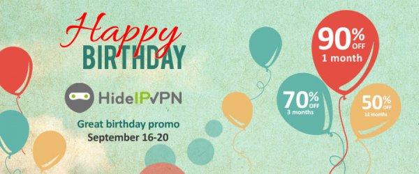 HideIPVPN -90% auf alle Pakete! Server in US/UK/NL/DE/CA, ab $0,99 pro Monat