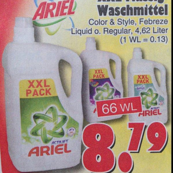 Ariel Flüssigwaschmittel 66 Waschladungen 8,99€uro