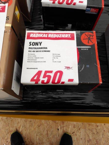 Sony Rx100 III für 450 Euro (Lokal Media Markt Castrop Rauxel)