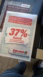 Lokal toom 37% auf Weber Gasgrills