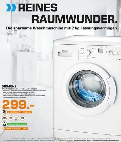 LOKAL BAUNATAL Siemens 7KG A+++ Waschmaschine für 299€