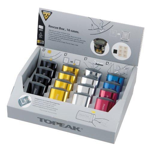 [Amazon.de-Marktplatz] 16 x Topeak Rescue Box Flickenbox Reifenreparatur Flickzeug /  20 x Topeak Flypaper Gleuless Patch Kit