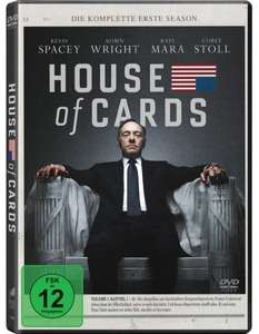 (Amazon Prime)House of Cards - Die komplette erste Season [4 DVDs] 15,97€ od. BlueRay 19,97€