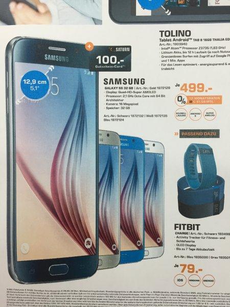 (Lokal Saturn Berlin & Potsdam) Samsung Galaxy S6 32GB für 399€