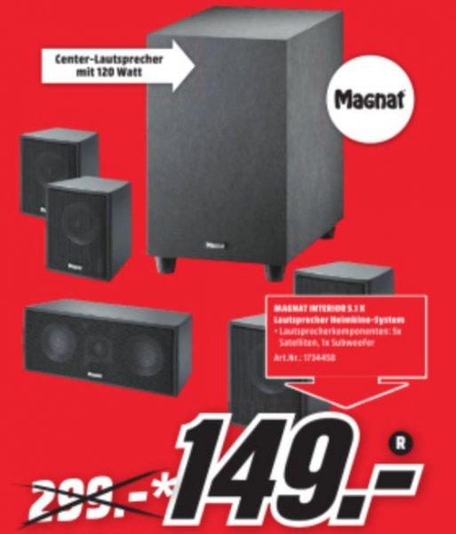[Mediamarkt Sulzbach(MTZ)] Magnat Interior 5.1 X Lautsprechersystem für 149€ und noch viele andere Dinge günstiger