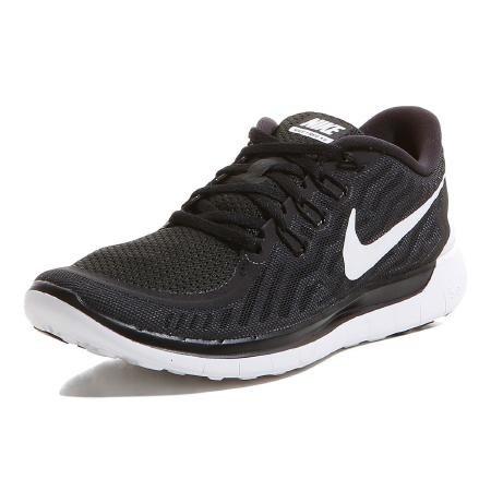 Nike Free 5.0 Laufschuhe schwarz-weiß , Damen