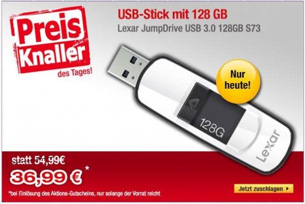 Lexar JumpDrive S73 128GB USB 3.0 Stick für 36,99€ bei Buecher.de (nur heute)