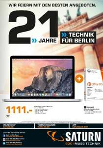 [Lokal Berlin] MacBook Pro Retina, 128 GB SSD + Office 365 1 Jahr