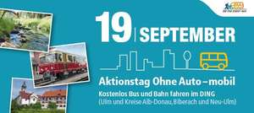 [Lokal Ulm & Umgebung] Kostenlose Nutzung des Nahverkehrs am Samstag, den 19.9.2015