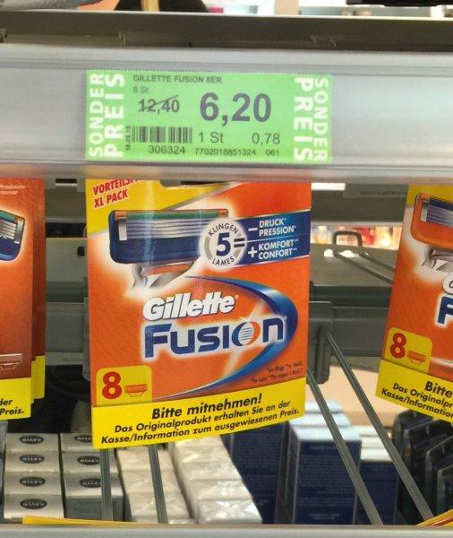Gillette Fusion Rasierklingen @Rosssmann Dresden Neustadt